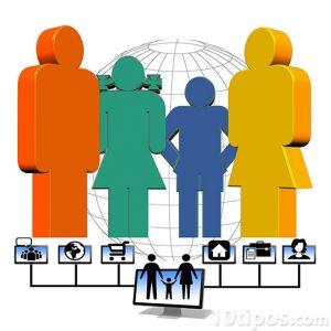 Figura de personas conectadas por un usuario