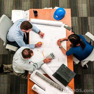 Reunión de trabajo vista desde arriba