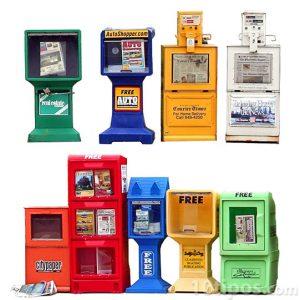 Diferentes tipos de maquinas para vender periódico