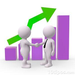 Gráfica que ilustra el aumento de ventas