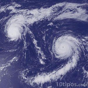 Huracanes visto desde el espacio