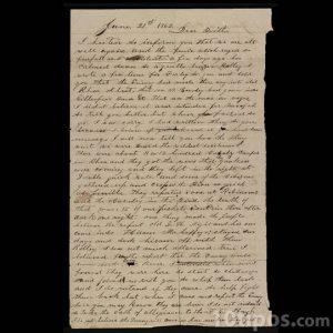 Carta vieja escrita a mano
