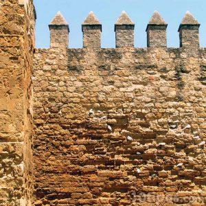 Muro hecho de piedra