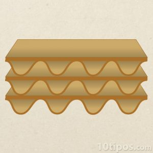 Pliego triple de cartón corrugado