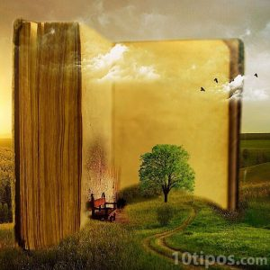 Paisajes que se fusionan en un libro