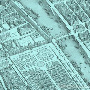 Avrupa şehri çizimi
