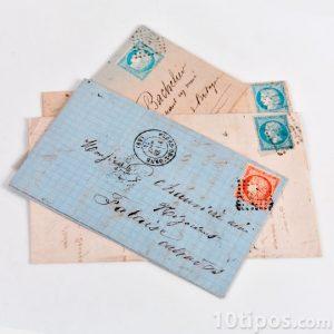 Cartas enviadas por correo postal