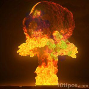 Explosión por una bomba atomica
