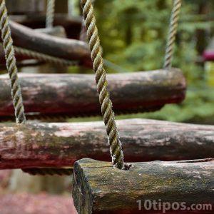Columpios de cuerda y madera
