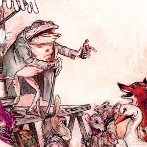 Fabula ilustrada con animales