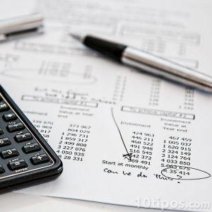 Informe financiero con resultado