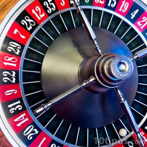 Ruleta de casino con números