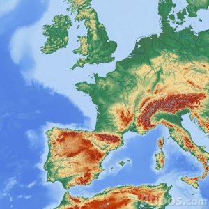 Mapa de europa de colores