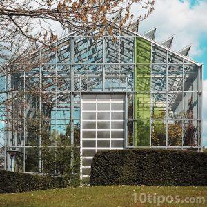 Invernadero moderno en forma de casa