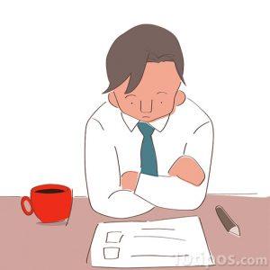 Dibujo de persona pensativa tomando desiciones