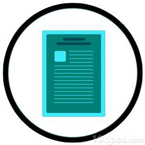 Icono de hoja de texto