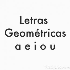 Letras estilo geométricas