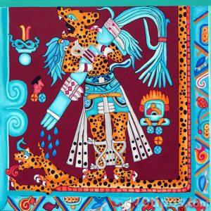 Representación maya del señor jaguar