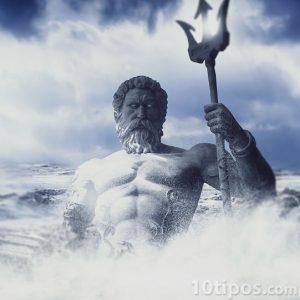Dios del agua con su tridente