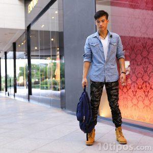 Modelo masculino posando