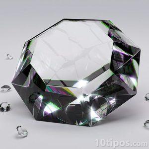 Acercamiento de diamante de 8 cortes