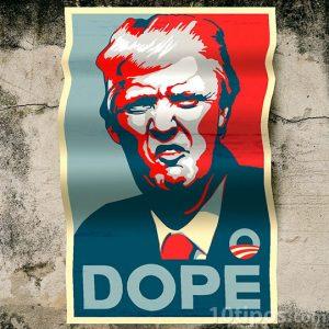 Cartel político de colores contrastantes