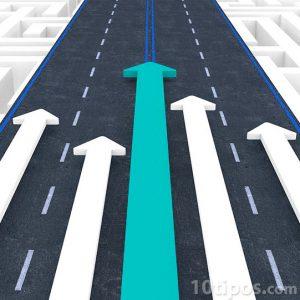 Carrera de flechas sobre pista