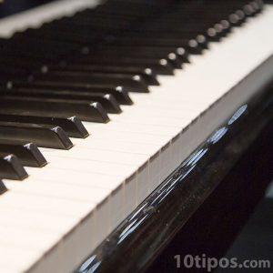 Acercamiento del teclado de un piano