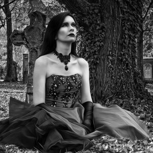 Persona con estilo gótico