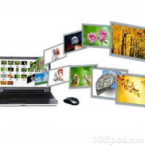 Archivos fotográficos en ordenador