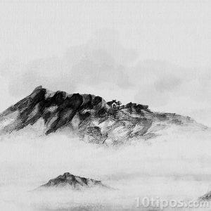 Paisaje en la montañas