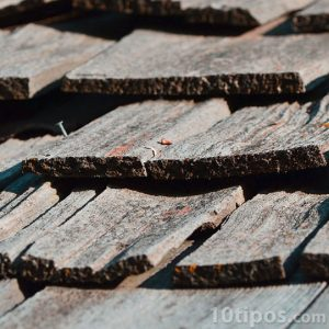 Tejas de madera