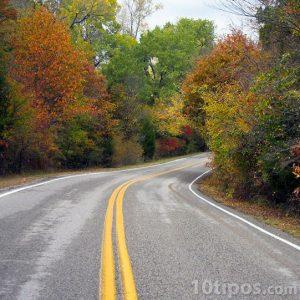 Autopista con linea continua de color amarillo