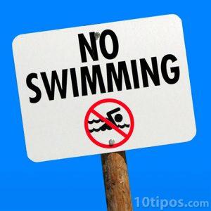 Señal de no nadar