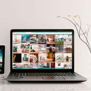Computador con variedad de imágenes
