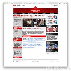 Página web de gobierno