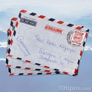 Sobre para envío por correo aéreo