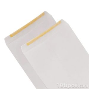 Sobres blancos tamaño carta