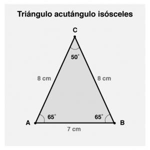 Diagrama geometrico del un triángulo