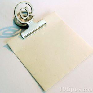 Nota para escribir un correo electrónico