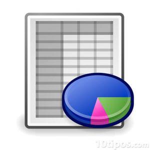 Icono de programa de estadística