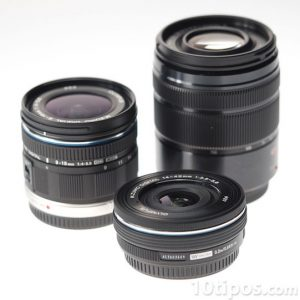 Variedad de lentes para cámara fotográfica