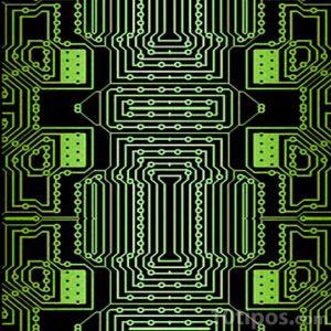 Tarjeta de circuitos de color verde