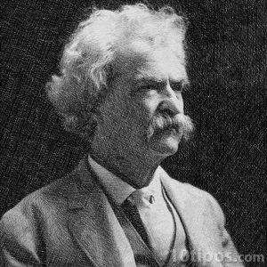 Retrato de Mark Twain