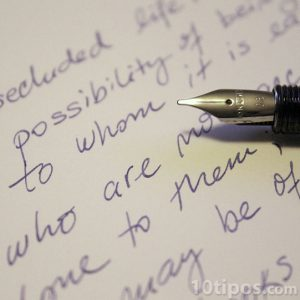 Escritura hecha a mano