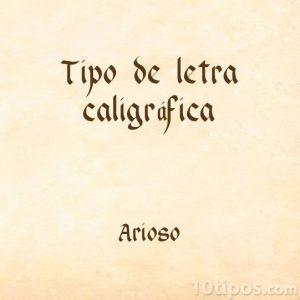 Tipografía arioso
