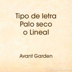 Letra avant garden