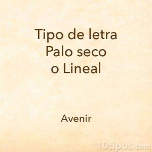 Letra Avenir
