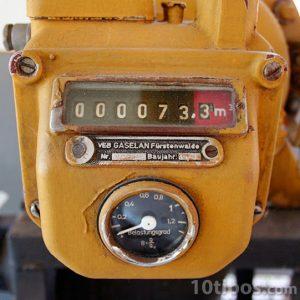 Medidor de gas con contador