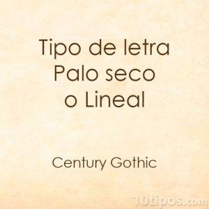 Tipografia century gothic